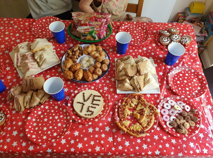 VE Day tea party celebrations