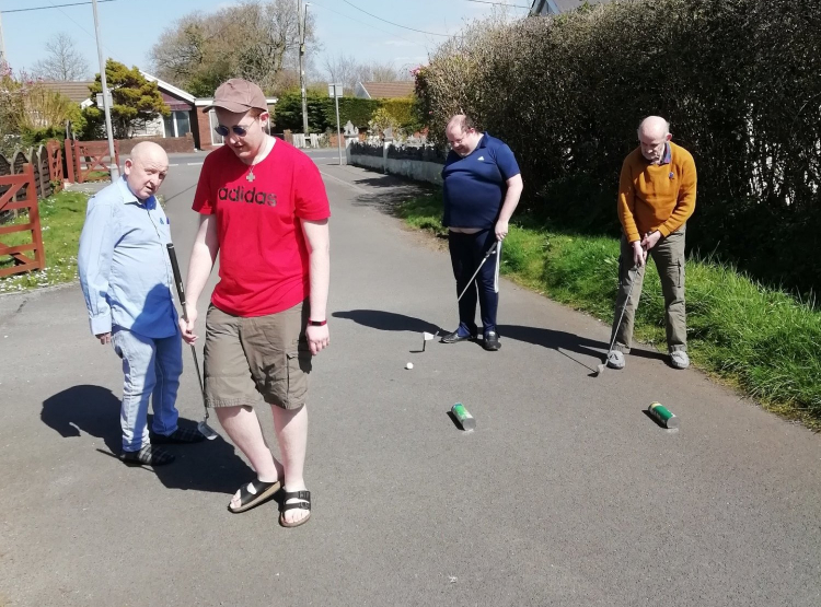 crazy golf at care home