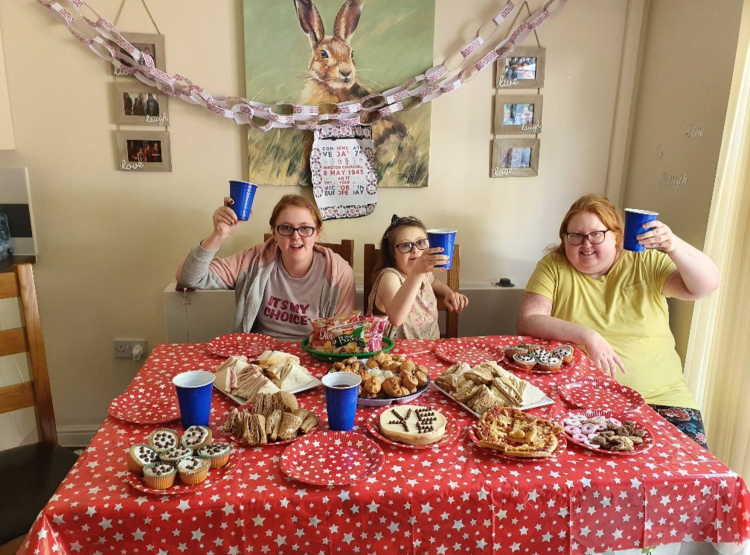 tea party for VE Day